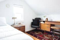 The cutest guest room in the attic got as much attention as the rest of the rooms.
