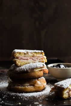 oh MY word. thank you @how sweet eats for intruduing me to these...i think. ::: doughnut monte cristo sliders