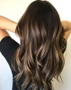 45 Brown Hair with Blonde Highlights Looks #Brown #Hair #Blonde #Highlights (Dyed Hair Tips)