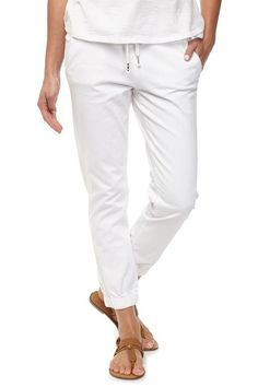 the cuffed chino White Jeans, Pants For Women, Capri Pants, Denim, Cotton, Stuff To Buy, Summer 2016, Clothes, Shopping