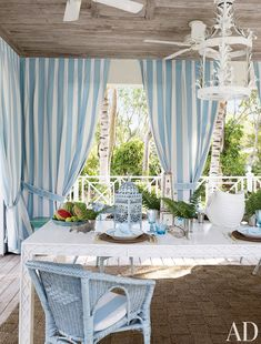 Miles Redd Turns a Bahamas Residence Into a Showstopping Beach Home - Architectural Digest Interior Design Styles, Architectural Digest, Decor, Outdoor Space, Cottage Decor, Vacation Home, Beach Cottage Style, Beach House Decor, Outdoor Curtains