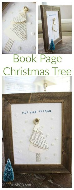 Creating a book page Christmas tree is fun and easy to do. Please don't shoot the messenger. We know that it is a bit early to be sharing a Christmas post. Okay, maybe it's way too early for some of you. But remember on Tuesday of this week we gave you fair warning that this ... Read More about Framed Book Page Christmas Tree – Thrift Store Challenge