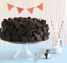 """brownie bite"" cake"