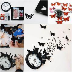 Creative Ideas - DIY Butterfly Clock Wall Art | iCreativeIdeas.com Follow Us on Facebook --> https://www.facebook.com/iCreativeIdeas