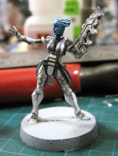 Infinity miniature, converted to Liara from Mass Effect.