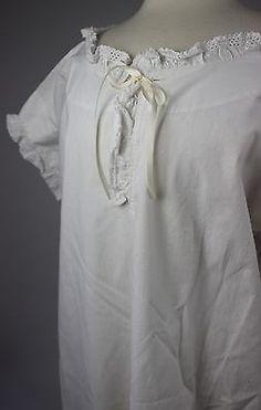 Antique White Cotton Chemise
