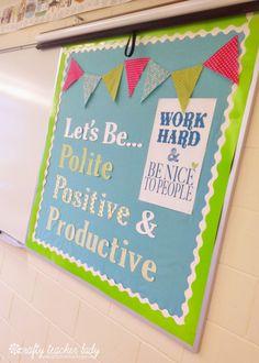 Positive bulletin boards = positive classroom vibe!