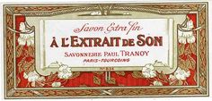 French vintage soap label