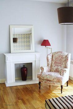 Sillón toile de jouy | Tipo de tecido para cadeirao para a nossa sala - beje melhor opção
