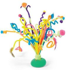 Chenille Stem Sculpture Passport to Imagination Kids At-Home Project