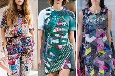 London Fashion Week S/S 14 – Print & Pattern Markus Lupfer / Mary Katrantzou / Thornton Bregazzi