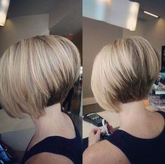 Stacked Bob Hairstyles medium stacked bob hairstyles Pretty Short Stacked Bob Haircut With Straight Hair