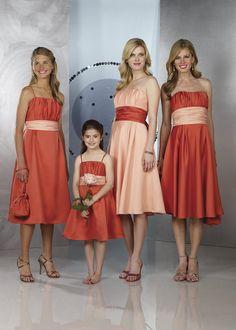 persimmon bridesmaid dresses - Persimmon Casual A-line Spaghetti ...