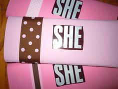 Hershey's Chocolate Bar Baby Shower Favor