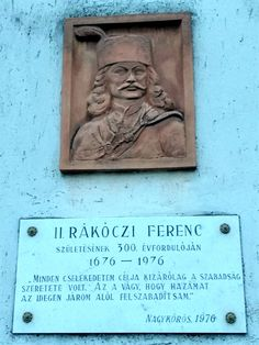 II. Rákóczi Ferenc emléktábla (Nagykőrös) http://www.turabazis.hu/latnivalok_ismerteto_5280 #latnivalo #nagykoros #turabazis #hungary #magyarorszag #travel #tura #turista #kirandulas