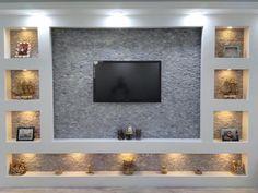 Pin on Tv room design House Ceiling Design, Ceiling Design Living Room, Bedroom False Ceiling Design, Home Room Design, Wall Design, Tv Wand Design, Tv Wall Decor, Tv Unit Decor, Living Room Tv Unit Designs