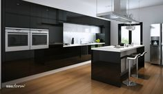Wyspa kuchenna nie tylko ułatwia organizację pracy i przestrzeni, ale również sprzyja lepszemu kontaktowi z domownikami. Ta prezentowana została wyposażona w dwie płyty grzewcze naprzeciw siebie, dzięki czemu bez trudno można na niej przygotowywać różne posiłki w tym samym czasie. Decydując się na takie rozwiązanie, najlepiej wybrać płyty ceramiczne i indukcyjne. Dzięki temu łatwiej utrzymać czystość na otwartej przestrzeni i można mieć pewność, że nikt się nie poparzy. fronty firmy ProForm.