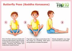 10 Amazing Yoga Poses For Your Kids To Keep Them Fit And Healthy - Health Beckon Yoga Poses For Men, Easy Yoga Poses, Butterfly Pose, Pediatric Physical Therapy, Physical Education, Childrens Yoga, Top 10 Home Remedies, Massage, Yoga Teacher Training