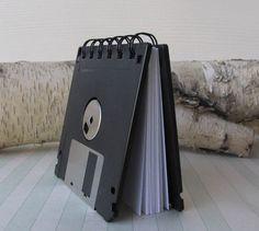 floppy disc notebook