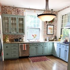 DIY Kitchen Make Over with Brick Veneer Wall - The February Baby