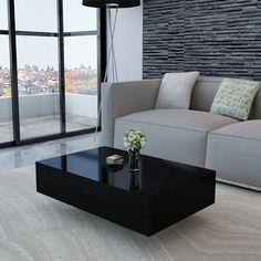 Black High Gloss Coffee Table 85 cm