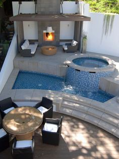 Small Outdoor Soaking Pools Design, Pictures, Remodel, Decor and Ideas - page 10