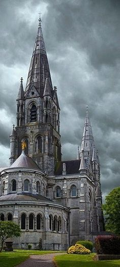 At the St. Fin Barre's Cathedral in Cork, Ireland.