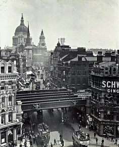 Ludgate Hill,London, 1920.