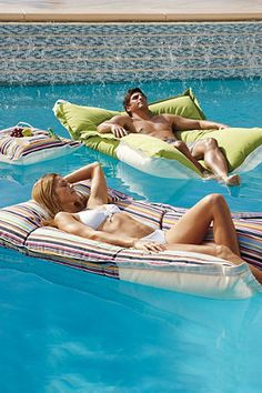 Luxe Edition Kai Floats. Water Hammock, Water Bed, Outdoor Fun, Outdoor Spaces, Outdoor Decor, Outdoor Living, Outdoor Ideas, Decorative Accessories, Pool Accessories