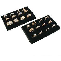 "2 Black Velvet Ring Trays Jewelry Pad Showcase Displays 5.5"" The Displayer http://www.amazon.com/dp/B001157DOY/ref=cm_sw_r_pi_dp_0ersvb0EE19SB"