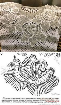 Irish lace Irish crochet flower motives, off white flower applique, Irish crochet decor, wedding dec Crochet Leaf Patterns, Crochet Leaves, Crochet Motifs, Crochet Diagram, Freeform Crochet, Thread Crochet, Crochet Flowers, Irish Crochet Charts, Crochet Top
