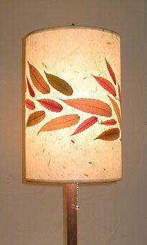 custom lighting - botanical elements & fabulous papers - www.ambientart.com