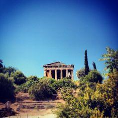 Temple of Hephaestus -  #8 Outdoor Adventures Athens, Greece #JetpacCityGuides #Athens