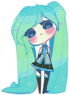 Hatsune Chibi Chibi sticker by Luuxy. Find more awesome miku images Chibi Kawaii, Cute Anime Chibi, Kawaii Anime, All Out Anime, I Love Anime, Arte Do Kawaii, Kawaii Art, Kawaii Drawings, Cute Drawings