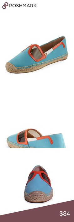Tory Burch Sunny Flat Espadrille In Jewel Oasis A playful applique of chic  sunglasses--