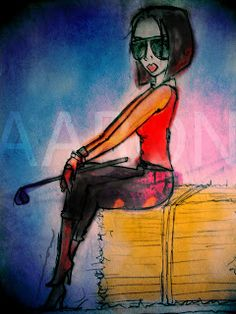 Aaronaitor: mis acuarelas digitales #girls #ilustración #illustration