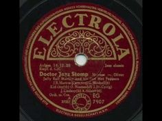 Dr. Jazz was recorded by Jelly Roll Morton and His Red Hot Peppers for Victor Records on December 16, 1926.