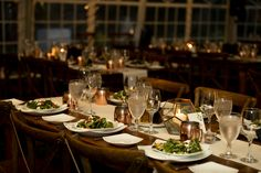 Food is an important part of every wedding. It is an alchemy of flavor, presentation, and atmosphere. In a banquet, there is food and then there's flavor.  Good caterers are half of what makes a banquet. An excellent venue is the other half. This picture shows off a lot of details, but when planning a wedding, start with making sure you get the food and venue right.   Thanks evermorecreation.com for the picture.