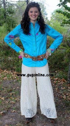 Floating on Cloud Nine Ivory Lace Pants www.gugonline.com $42.95