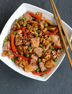 """Chinese Walnut Chicken... roomates said """"do again!"""" interesting combo of flavor/texture"""
