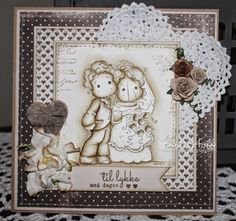 Bente's hobbyblogg: Enkelt bryllupskort :)