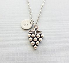 Grapes NecklaceBunch Of Grapes by BelieveInGoodKarma on Etsy