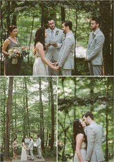 woodsy wedding   simple ceremony   forest wedding venue   #weddingchicks