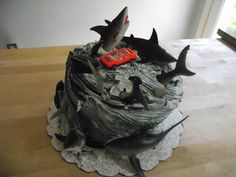 "My ""Sharknado"" cake for Halloween party"