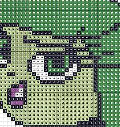 Disgust Inside Out Counted Cross stitch Pattern by KHANNAandILAN