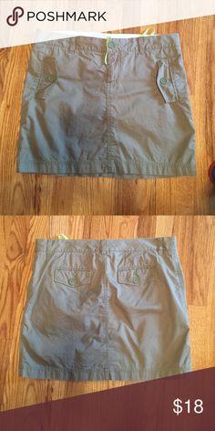 Gap Olive Green Skirt Olive green  a bit longer than mini- great condition Gap Skirts Midi