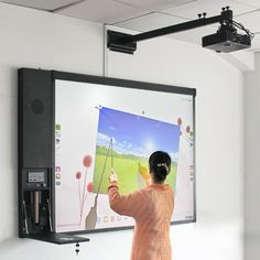 Projection Screen/Finger Touch Screen Whiteboard Interactive Projector Screen $1~$300
