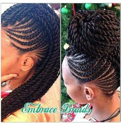 senegalese twist with cornrows - Google Search