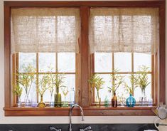Cute window treatment.  Ideas for Cleaning - Household Cleaning Advice - Country Living