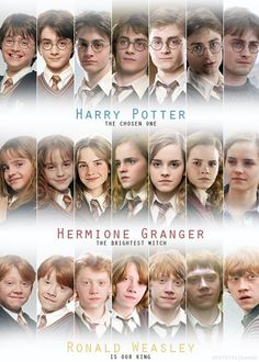 Harry Potter over the years